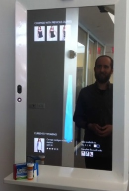 New York Times Co.'s R&D Lab Magic Mirror Demonstration