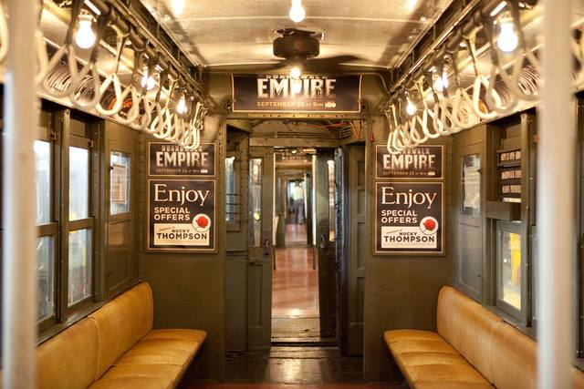 Boardwalk Empire Subway Promotion Train Interior