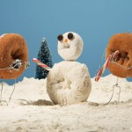 Doughtnuts Snowman by Terry Border