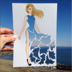 Edgar Artis sky dress papercut